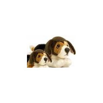 Perro De Juguete Suave - Tri Color Beagle 35cm Childrens Mim