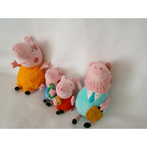 Familia Peppa Pig Cerdita Peluche Pappa Mama George Paquete