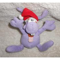 Burundis!! Peluche Morado Con Gorro De Navidad, Mide 17cm