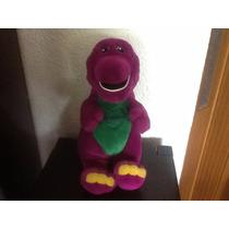 Barney Mide 35 Cm Con Corazon En Su Pancita Nuevo