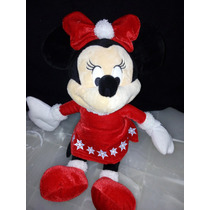 Peluche Minnie Mouse Con Cascabel Disney Hermosa