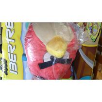Excelente Peluche Mochila De Angry Birds Red Rojo