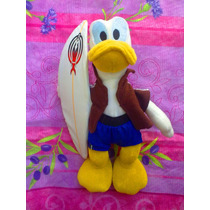 Disney Peluche De Pato Donald Surfista
