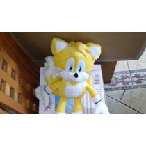Excelente Peluche Mochila De Tails De Sonic The Hedgehog