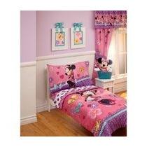 Disney - Colección Linda Minnie 4pc Toddler Bedding