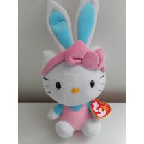 Hermoso Peluche De Hello Kitty Ty Conejito! Nuevo