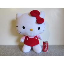 Hello Kitty Peluche Sanrio Moño Rojo