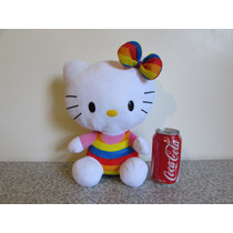 Hello Kitty Peluche Sanrio Rainbow