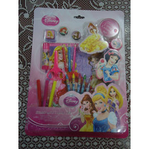 Lote Set De Actividades D Princesas D Disney 39 Pzas