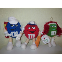 Peluche Chocolates M&m Azul, Rojo Y Verde 30cm Golf Beisbol