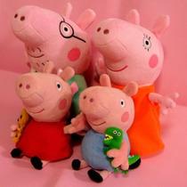 4 Peluche S Peppa Pig Papas 30cm Hijos 18cm Entrega Inmediat