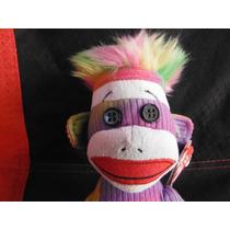 Peluche Rainbow Sock Monkey Ty Beanie Babies De Coleccion
