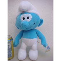 Pitufo Mediano Peluche Orignal!!! Los Pitufos The Smurfs