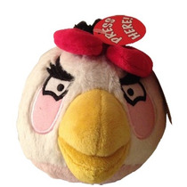 Peluche Angry Birds Niña Rosa 13 Cm Con Sonido Nuevo Origina