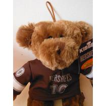 Peluche Oso Chocolate Hershey Company Mascota Pet Con Jersey
