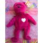 Beanie Babies Ty Peluche Osito Rosa Con Corazon Modelo 3