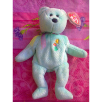 Beanie Babies Ty Peluche De Osito Con Flores Y Sol En Pecho