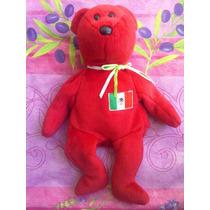 Beanie Babies Ty Peluche De Osito Con Bandera Mexicana