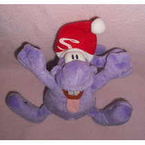 Burundis!!! Peluche Morado Con Gorro De Navidad!! Bur5
