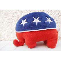 Peluche Elefante Patriota Comite Del Partido Republicano Usa