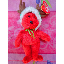 Ty Beanie Babies Osito Rojo Vestido De Reno
