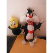 Peluche Sylvestre Y Piolin Looney Tunes Edicion Mago 1998