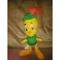 Piolin Robin Hood Tweety Bird Peluche/ 26 Cm. /looney Tunes