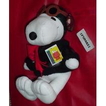 Snoopy Original Aviador Con Sus Lentes Y Chamarra Negra