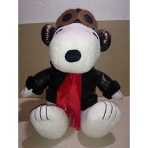 Snoopy,peanuts,peluche Original,aviador,piloto 40 Cm Pelicul