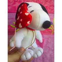 Snoopy De Peluche Con Globo De Corazon Y Carta