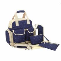 Pañalera Backpack Moderna Bebe Ropa Pañal Importada 5 Piezas