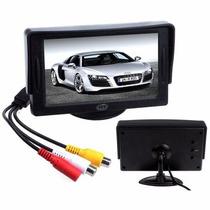 Pantalla Monitor 4.3 Lcd Para Auto Dvd Camara De Reversa Gps