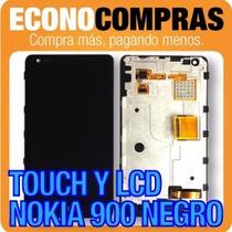 Pantalla Lcd Y Touch Nokia 900 Color Negro 100% Nuevo!!!!!!!