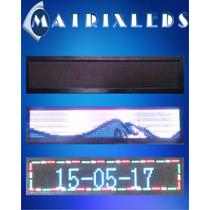 Anuncio Display Led, Luminoso Rgb Para Negocio 100x20 Cm
