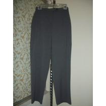 Pantalon De Vestir Gris Jm P/dama Talla 4-30 Corte Recto