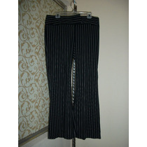 Pantalon Negro C/rayas Blancas Express P/dama Talla 12-38