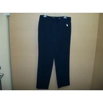 Pantalon De Vestir Charter Club P/dama 10-36 Azul Marino
