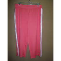 Pants Capri Atlhetic Works Salmon P/dama 8-10 34-36 Nuevo