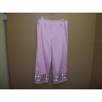 Pantalon Rosa Capri Vintage Retro Hippie Alanni Dama 8 -34
