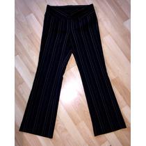 Pantalon Tt Blues Pegadito Negro De Rayitas Blancas T. 5