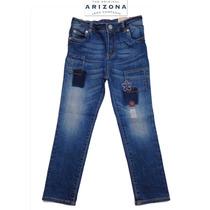 Jeans Nina 6 Anos Stretch Pantalones Mezclilla Arizona Bello