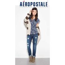 Aeropostale Xxs/20 Jeans Stretch Skinny Pantalones Mezclilla