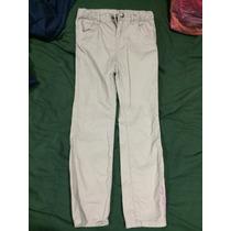 Pantalon Niña Calvin Klein Color Gris, Ajuste En Cintura 6x