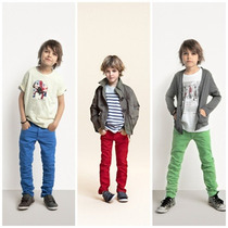 Pantalon De Color Entubado Para Niños