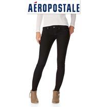 Aeropostale S/28 Jeans Stretch Skinny Pantalon Mezclilla Neg