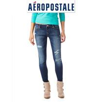 Aeropostale S/28 Jeans Stretch Skinny Pantalones Mezclilla!