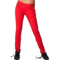 Pantalon Antifashion Skinny Unisex Rojo Hipster Punk Gotico