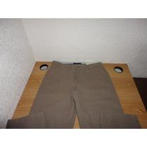 Pantalon Tommy Hilfiger Camel 33x34 Gabardina 100% Original