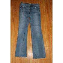 Pantalon Aeropostale Azul Modelo Chelsea Talla 7/8 Long /lon