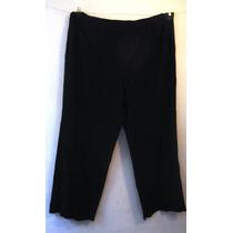 Pantalon Eileen Fisher T/3x 42-44 En Crepe Negro Super Stret